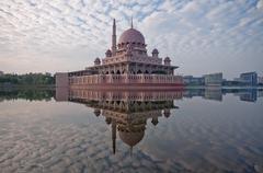 Malaysia, Putrajaya, Kuala Lumpur, Architecture Mosque Putra Stock Photos