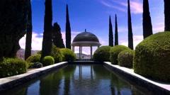 Concepcion Botanical garden, Jardin Botanico la Concepcion in Malaga (Spain) Stock Footage