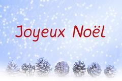 french 'Joyeux Noel' (merry christmas) - stock illustration