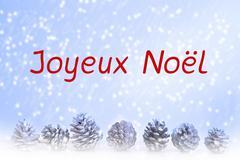 French 'Joyeux Noel' (merry christmas) Stock Illustration