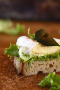 France, Brie sandwich with fig slice Stock Photos
