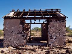 USA, Arizona, Agua Caliente, Abandoned blacksmith shop Stock Photos