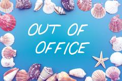 Stock Illustration of 'out of office' with seashells