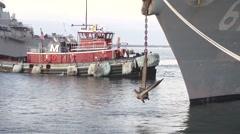USA Virgina Norfolk, November 2015, USA USS Remage Raise Anchor - stock footage
