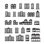 Real Estate Icons set - stock illustration