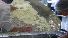 feta cheese production - stock footage