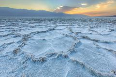 USA, California, Death Valley National Park, Badwater Basin Stock Photos