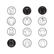 Stock Illustration of Set of Apparel shirt and T-shirt Icon Clothing icons