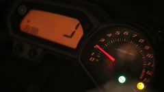 Chromed motorcycle speedometer Stock Footage