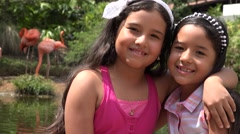 Sisters or Friends Outdoors Stock Footage