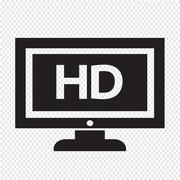 HD tv icon design Illustration - stock illustration