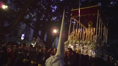 Traditional processions of Easter in Malaga, Spain Stock Footage
