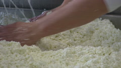 Feta cheese production Stock Footage