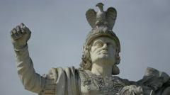 Sculpture of Charles VI on the third gate of Alba Iulia fortress Stock Footage