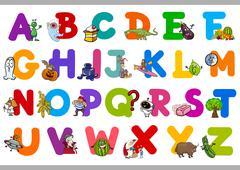 Stock Illustration of funny alphabet for kindergartens