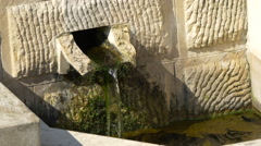 View of a gutter spring in the fortress of Alba Iulia Stock Footage