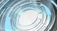 Spinning Glass Circles - stock footage