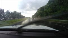 Rainy Road - stock footage