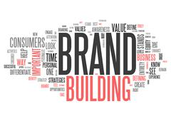Wordcloud Brand Building - stock illustration