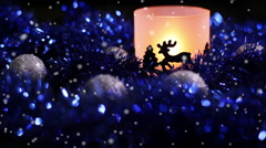 Christmas New Year Deer light Background Stock Footage