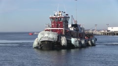 USA Virgina Norfolk, November 2015, Towboat Drive In Harbour Stock Footage