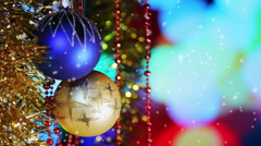 Christmas New Year Balls background - stock footage
