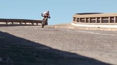 Active man riding dirt bike Stock Footage
