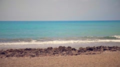 A beach with blue sea in Italy - stock footage