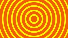 Circular radial hypnotic background endless loop orange and yellow - stock footage