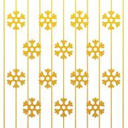 merry christmas snowflake gold glitter background - stock illustration