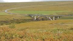 ICELAND Route bridge Bruecke car Auto Stock Footage