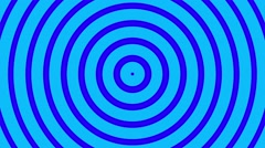 Stock Video Footage of Circular radial hypnotic background endless loop blue