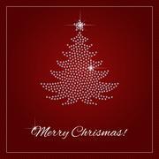 Rhinestone Christmas Template - stock illustration