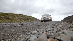 ICELAND car Auto Suzuki 4x4 road Straße Stock Footage