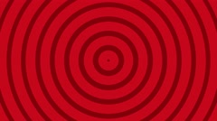 Circular radial hypnotic background endless loop red - stock footage