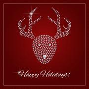 Rhinestone Holiday Season Template - stock illustration