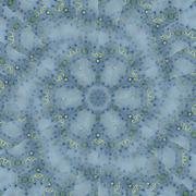 Seamless spiral pattern blue green - stock illustration