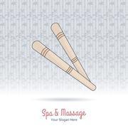 Wooden tool for Thai massage. Stock Illustration