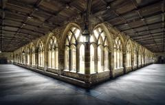 UK, England, Cloister of Durham Cathedral - stock photo