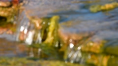 Brook water stream with small rift - stock footage