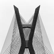 Brazil, Sao Paulo State, Sao Paulo, Estaiada Bridge Stock Photos