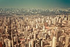 Brazil, Sao Paulo, Aerial view of city Stock Photos