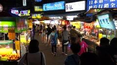 Taipei Shilin Night Market Stock Footage