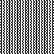 Optical illusion - vertical parallel lines made from small black and white - stock illustration