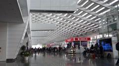 Taipei Taoyuan airport interior Stock Footage