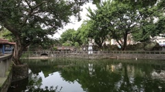 Stock Video Footage of Taipei Lin Ben Yuan Family Mansion and Garden