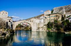 Cityscape, Mostar, Bosnia and Herzegovina Stock Photos
