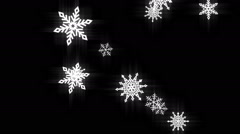 Snow flakes black and white loop Stock Footage