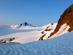 Snow covered mountains, British Columbia, Canada - stock photo