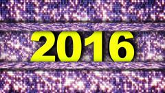 2016 New Year and Disco Dance DoorGate, Loop, 4k Stock Footage